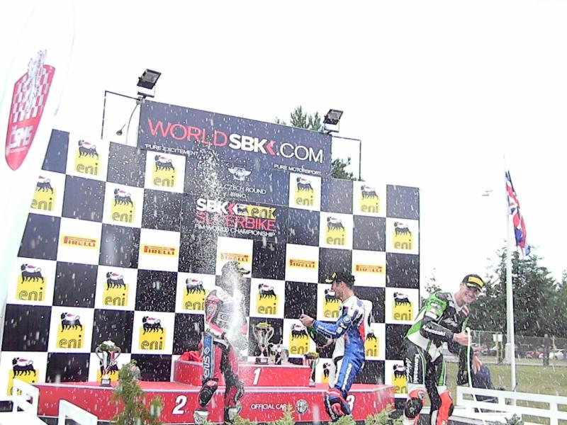 Brno podium is unusually on ground level