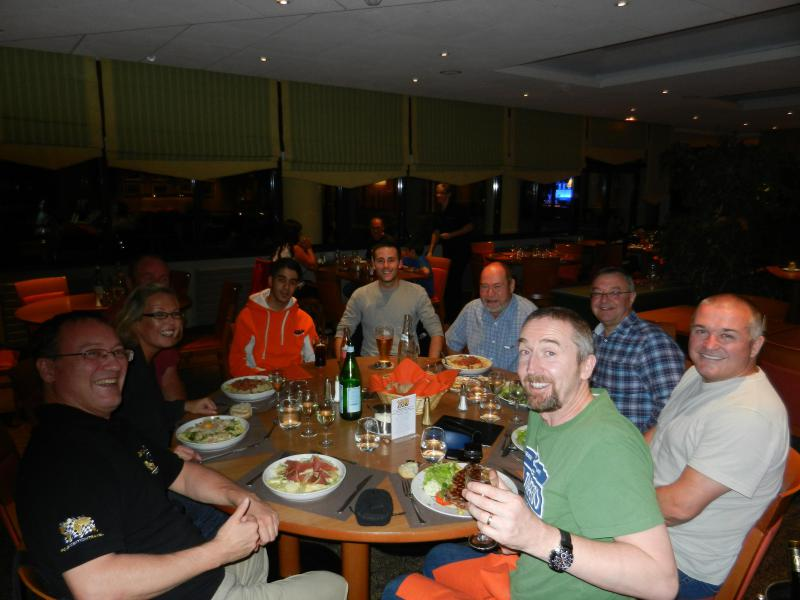 Opening dinner with sponsored rider guest