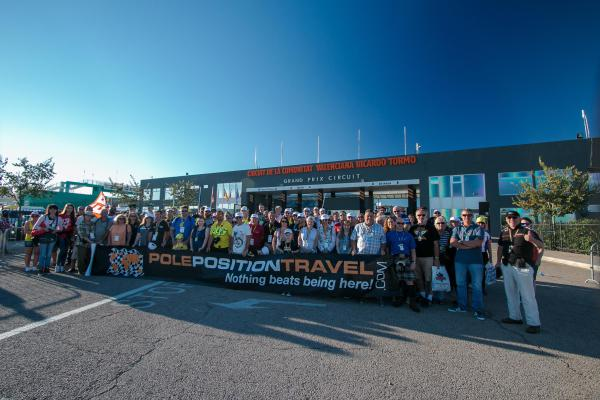 Group photo at the gates of the Valencia circuit in 2015