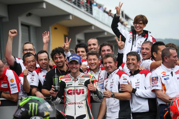 LCR Honda celebrates Cal's 2016 podium