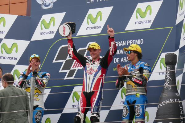 [ID: 15474] In the Moto2, again a sponsored rider of ours wins - Sam Lowes! (credit: Gordon Howell (Pole Position Travel))