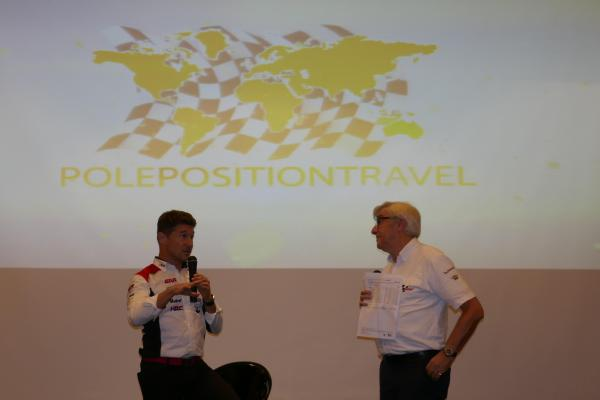 [ID: 15681] Our final guest is Lucio Cecchinello (credit: Gordon Howell (Pole Position Travel))