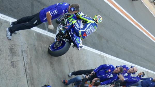 View from VIP Lounge - right over Rossi!