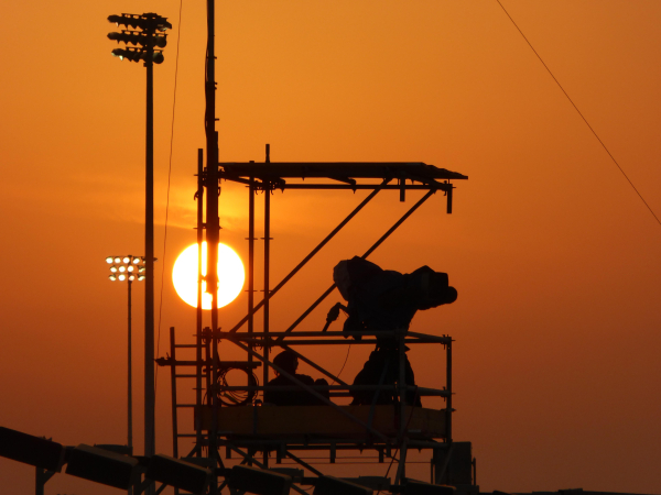 Sunset over the track Losail - Qatar