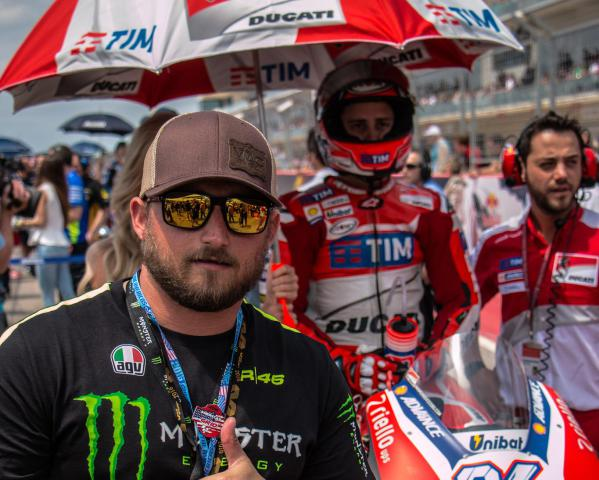Our Platinum Team Experience guest gets on The Grid for the MotoGP race!