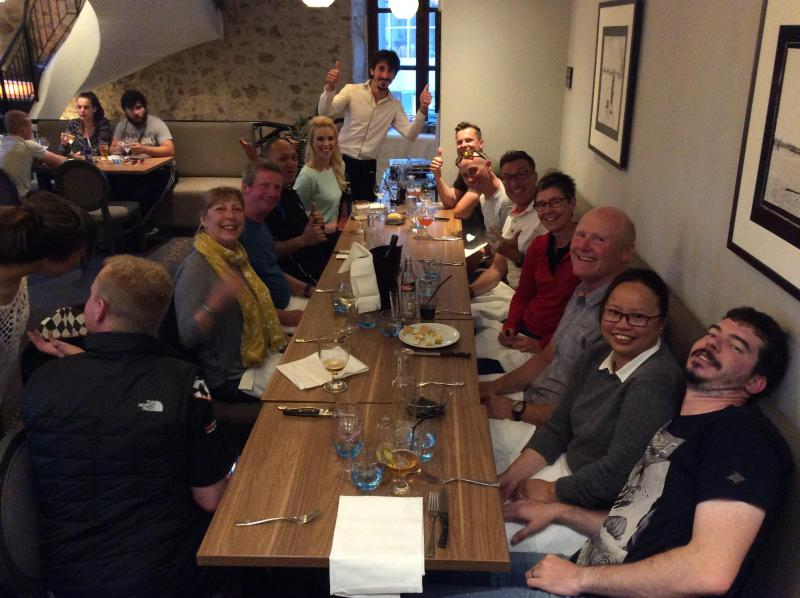 [ID: 16609] Closing dinner in Le Mans (credit: Gordon Howell (Pole Position Travel))