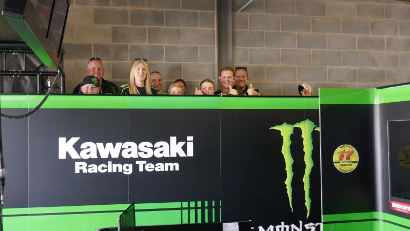 Our partner team Kawasaki welcomes guests with private viewing, tours and hospitality