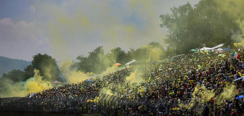 Rossi fans are berserk here!