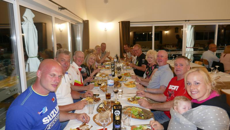For our larger events, we organise evenings at top local restaurants, often with riders/teams joining us
