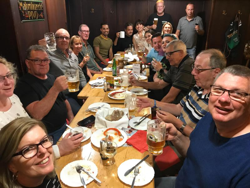 Closing brewery dinner in Brno