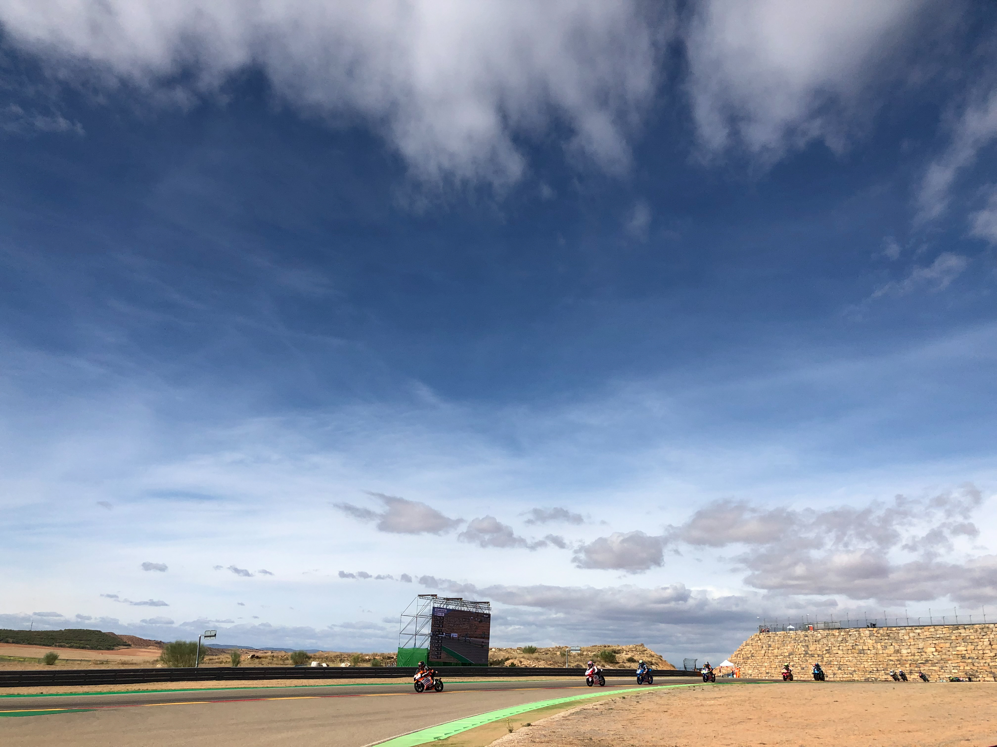 The Aragon circuit is situated in rural Spain - the near-arid conditions make for a perfect setting