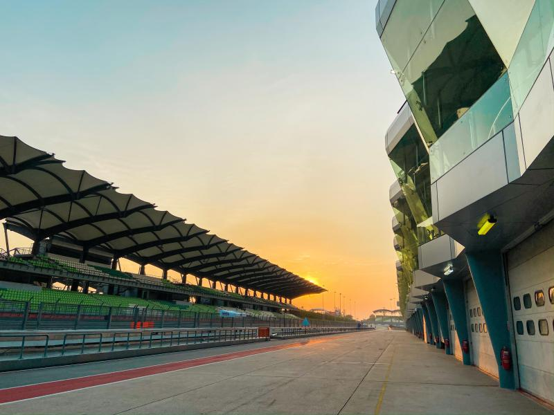 The futuristic Sepang International Circuit