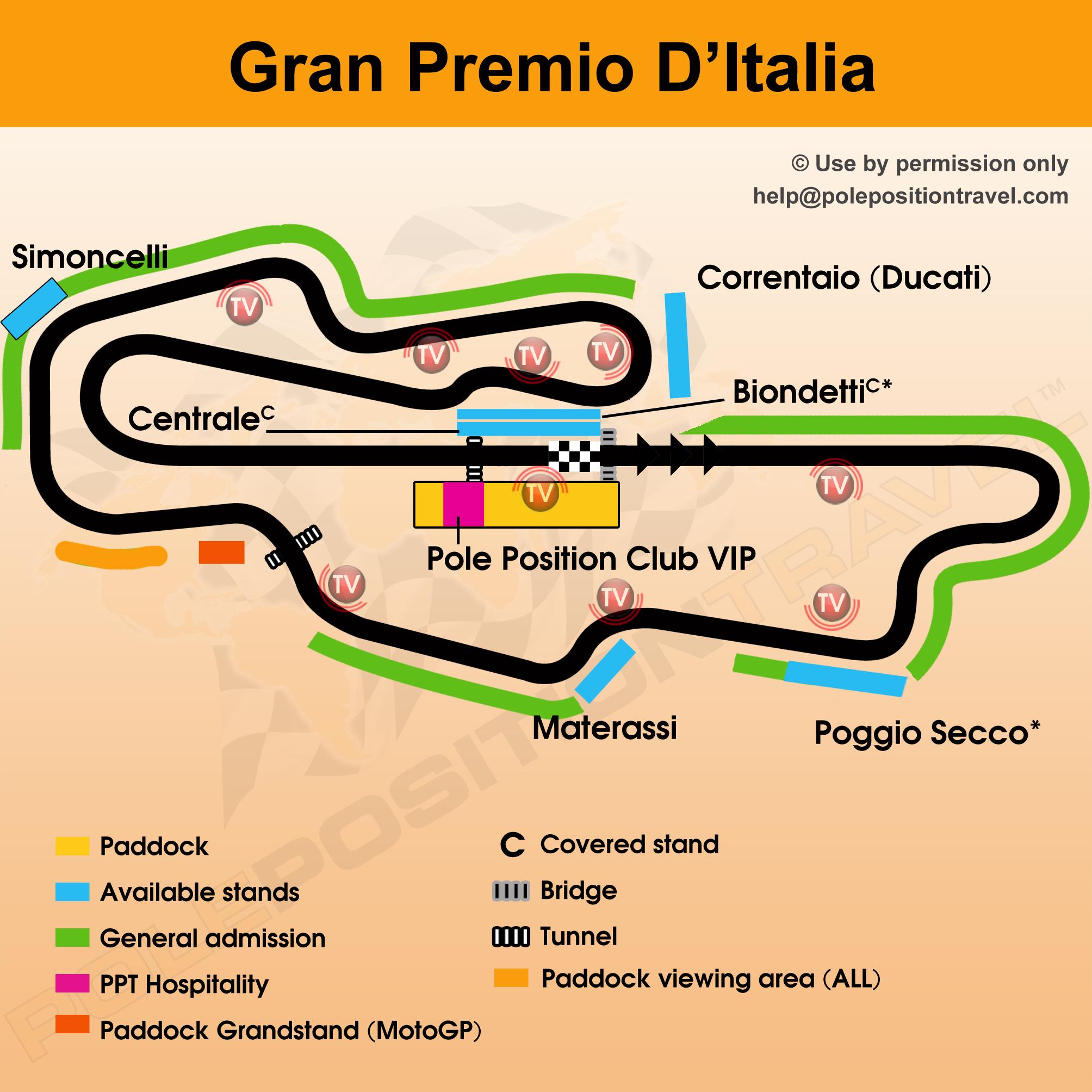 Gran Premio D'Italia 2018 Circuit map