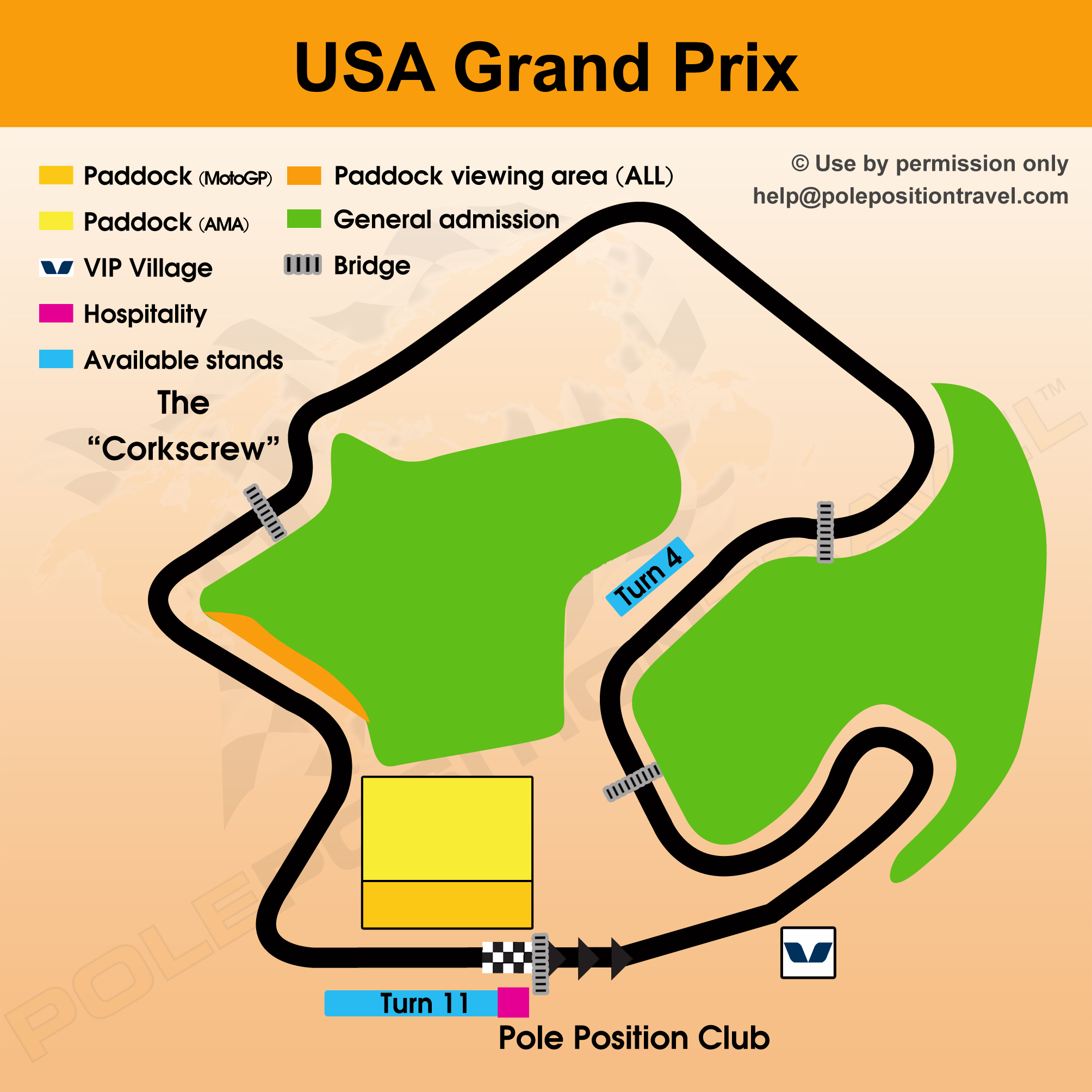 WSBK USA 2018 Circuit map