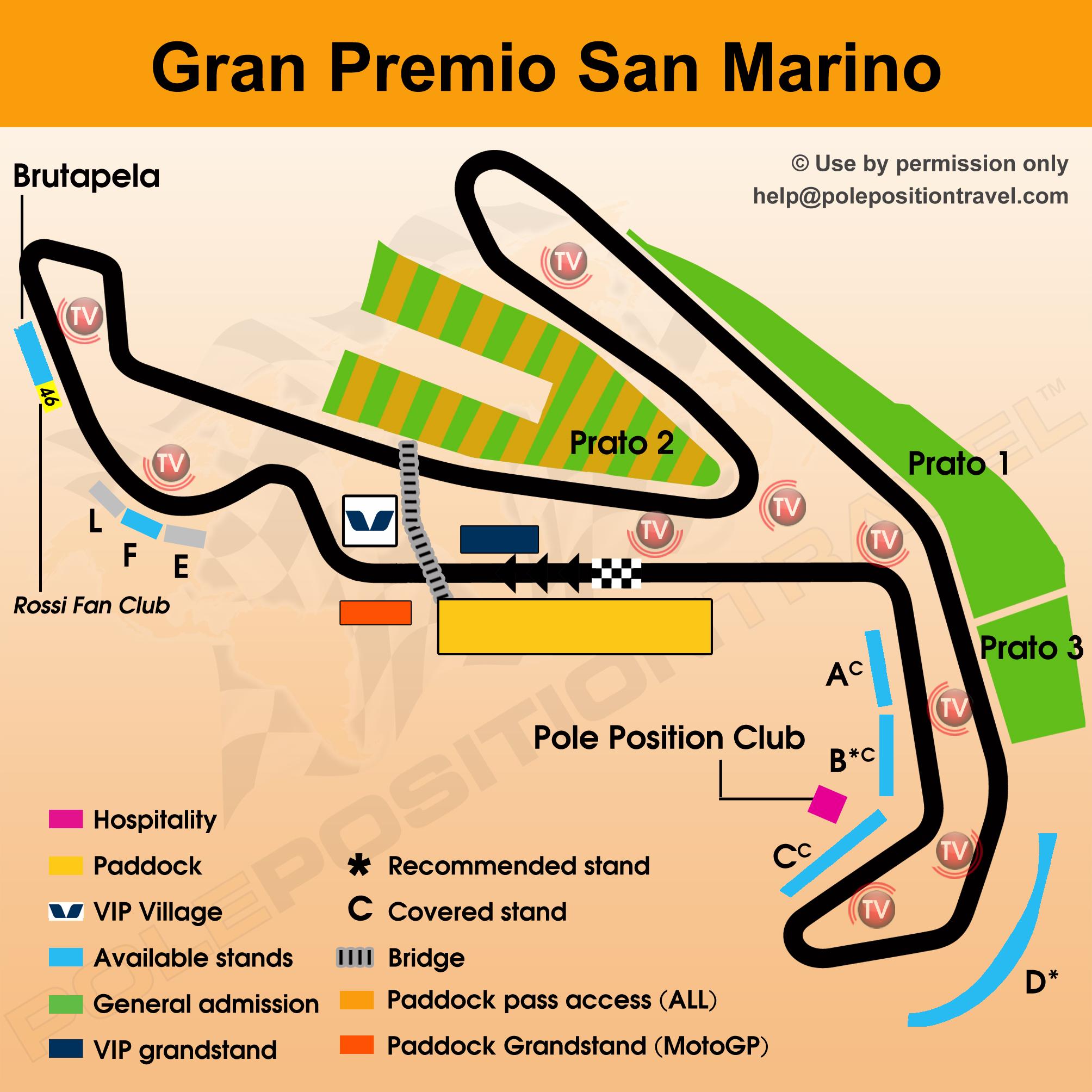 Gran Premio San Marino 2017 Circuit map