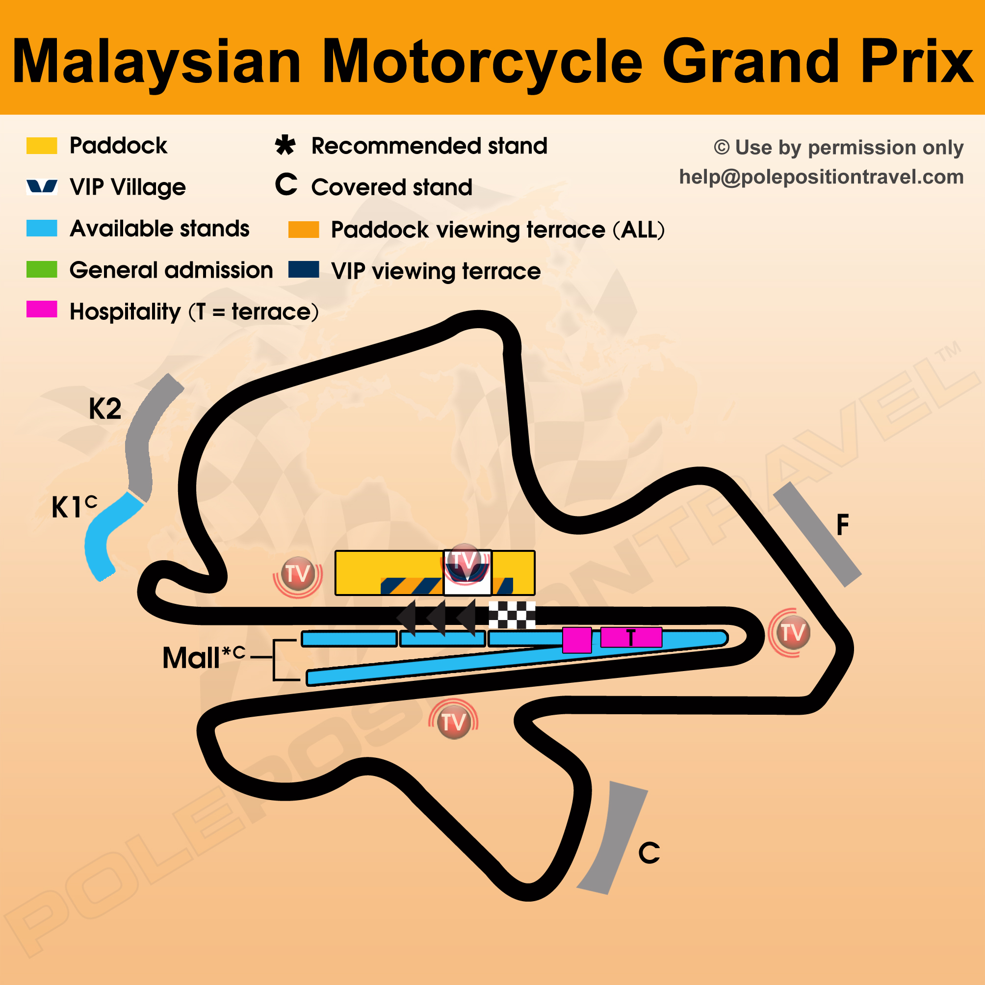 Sepang MotoGP Test 2018 Circuit map