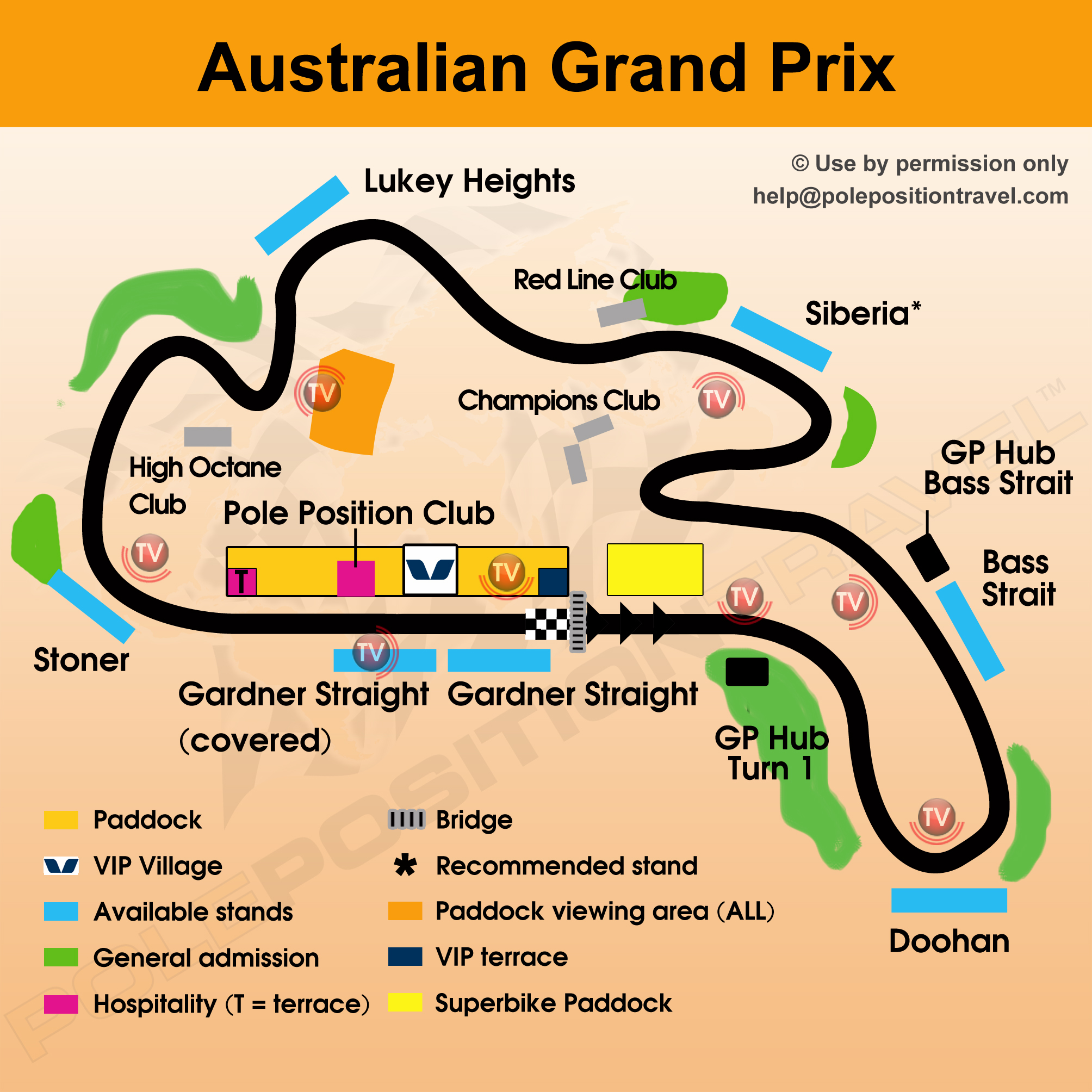 Australian Grand Prix 2017 Circuit map