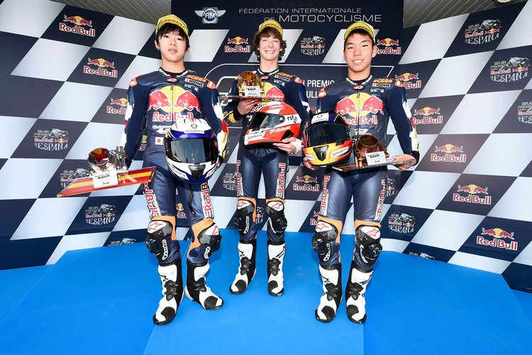 Scotsman Rory Skinner wins the first Red Bull Rookies Cup Race of 2017 in Jerez 6th May