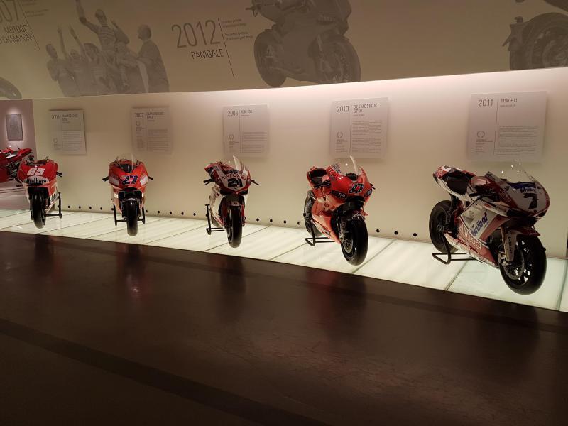 At the Ducati Museum