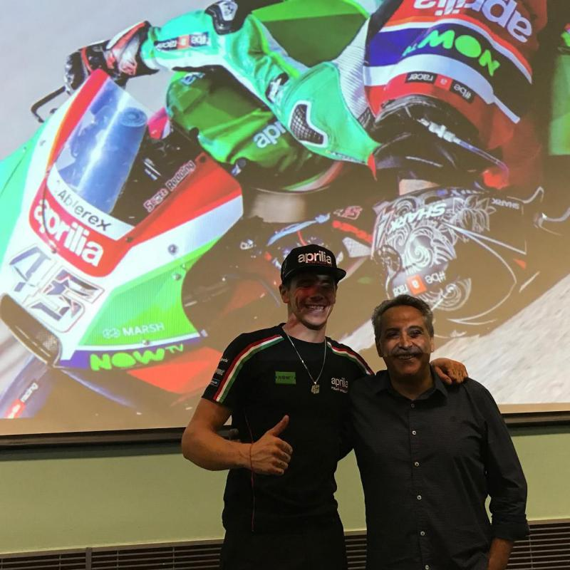 Scott with Manuel Pecino in front of the famous
