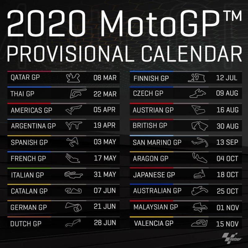 Calendario Motogp 2020 Pdf.Pole Position Travel Motogp Wsbk And Road Racing Isle