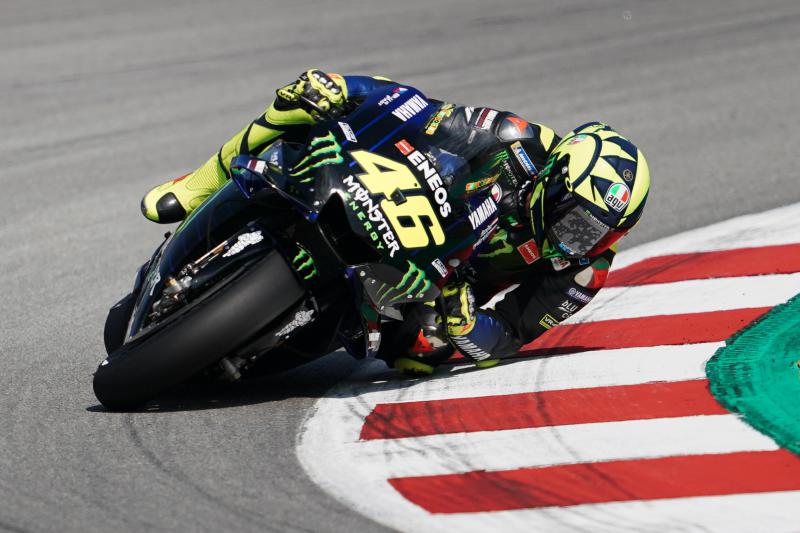Valentino Rossi at one of his favourite circuits - Catalunya