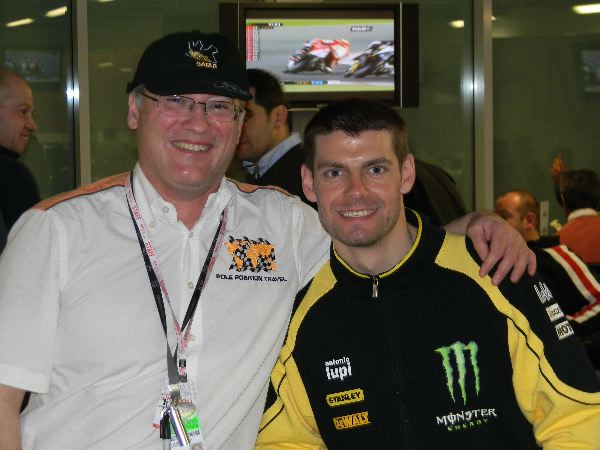 Cal Crutchlow joined us in the VIP Village before his debut race in MotoGP
