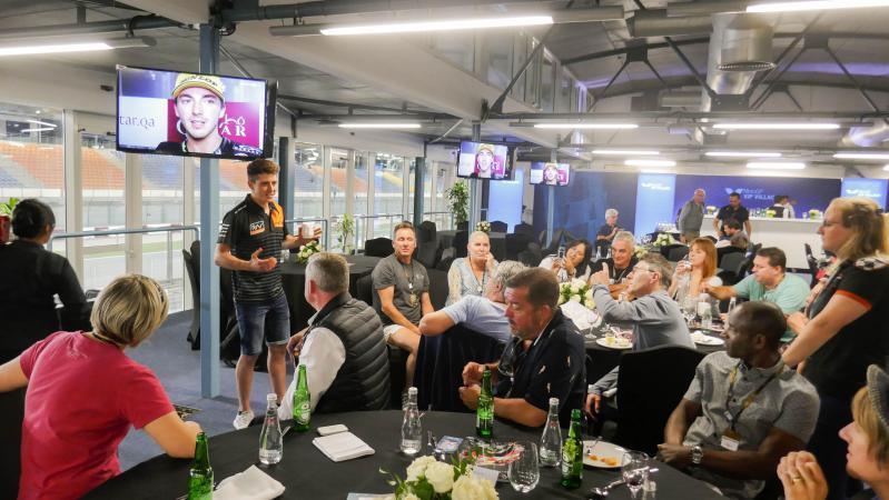 Qatar VIP Village - guest speaker Moto2 rider Steve Odendaal