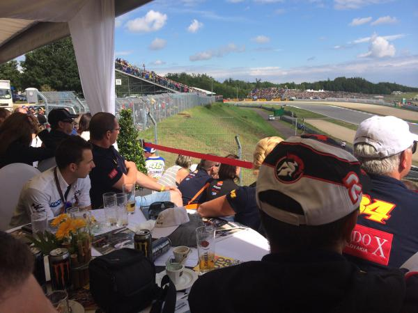 View from the T1 VIP Terrace