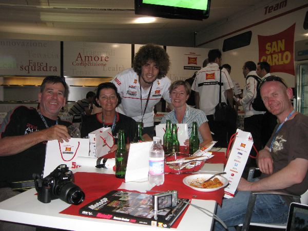 Marco Simoncelli and some of our customers