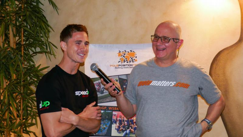 Danny Kent@ Opening Dinner Le Mans GP