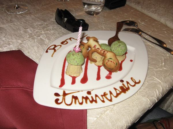 Restaurant is happy to prepare special desserts for special people for special occasions!