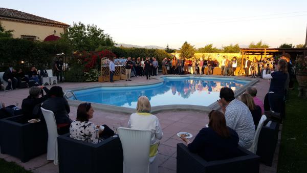 Opening poolside talks & rider meets (Brad & Darryn Binder, Manuel Pecino)