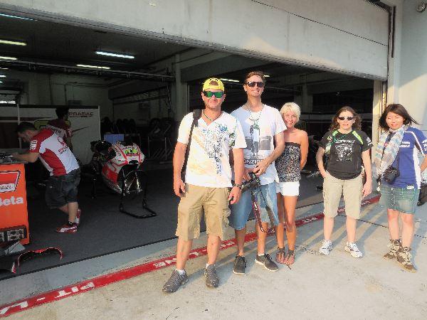 We visit the garage of Pramac Ducati