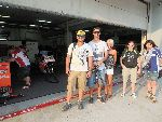 Our guests on pit lane in front of the garages