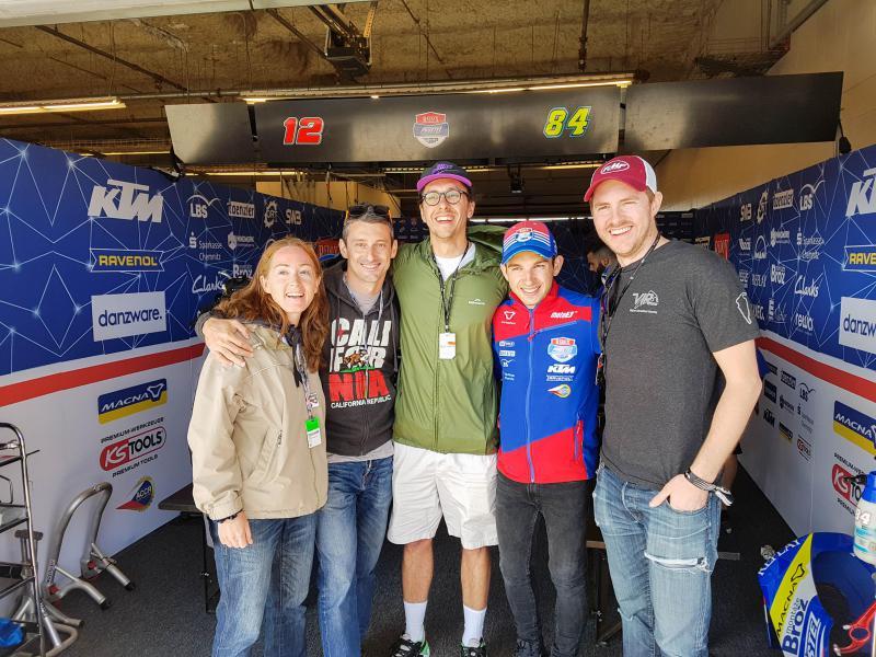 We visit the Moto3 garage of Pruestl Racing and our sponsored rider Kuba