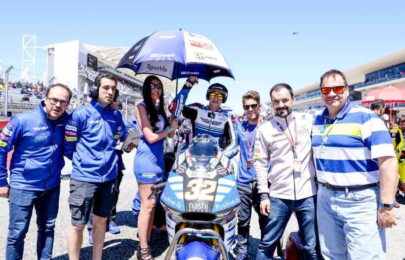 Our PLATINUM Pole Position Club members enjoy a visit to the Moto2 start grid!