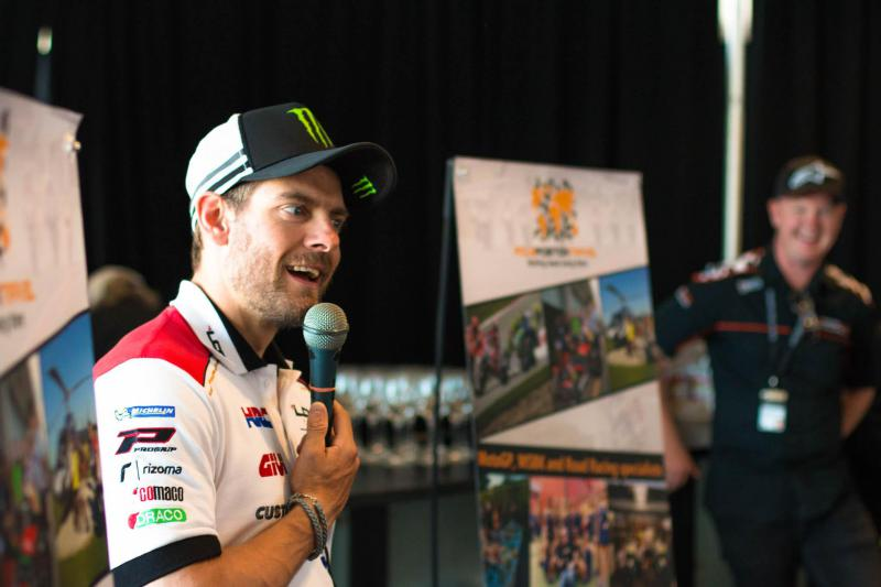 Our opening dinners feature guest riders.  This is Cal Crutchlow