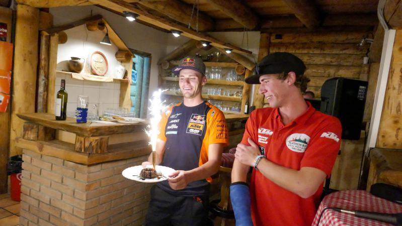 Brad gets a birthday cake!