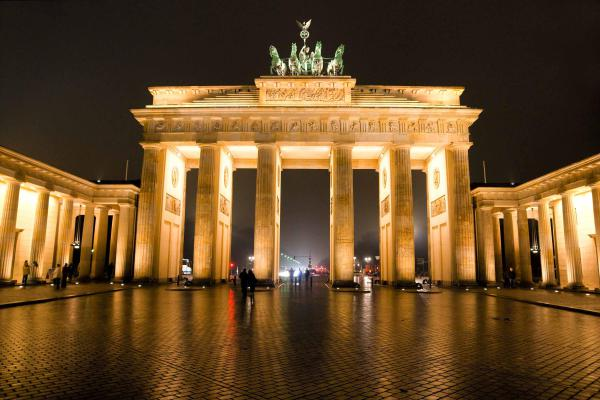The iconic Brandenburg Gate, Berlin