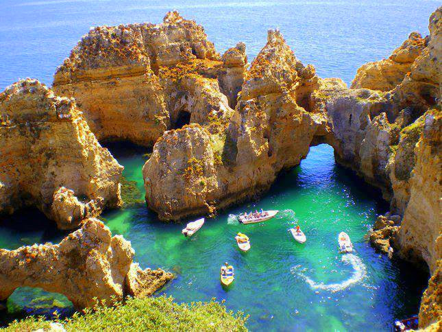 The incredible rock formations line the coast, the nearest are walking distance!