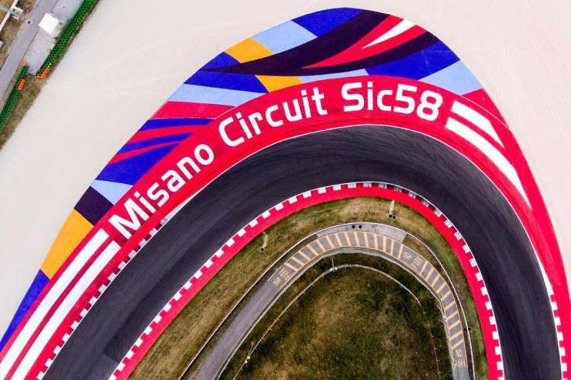 It all takes place at the epic Misano World Circuit Marco Simoncelli