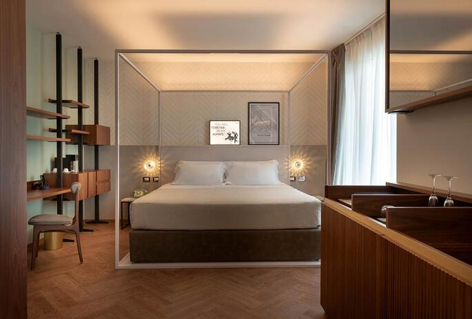 4* One of the designer bedrooms