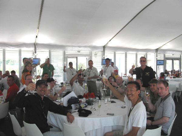 Happy VIP crew after the 2009 races!
