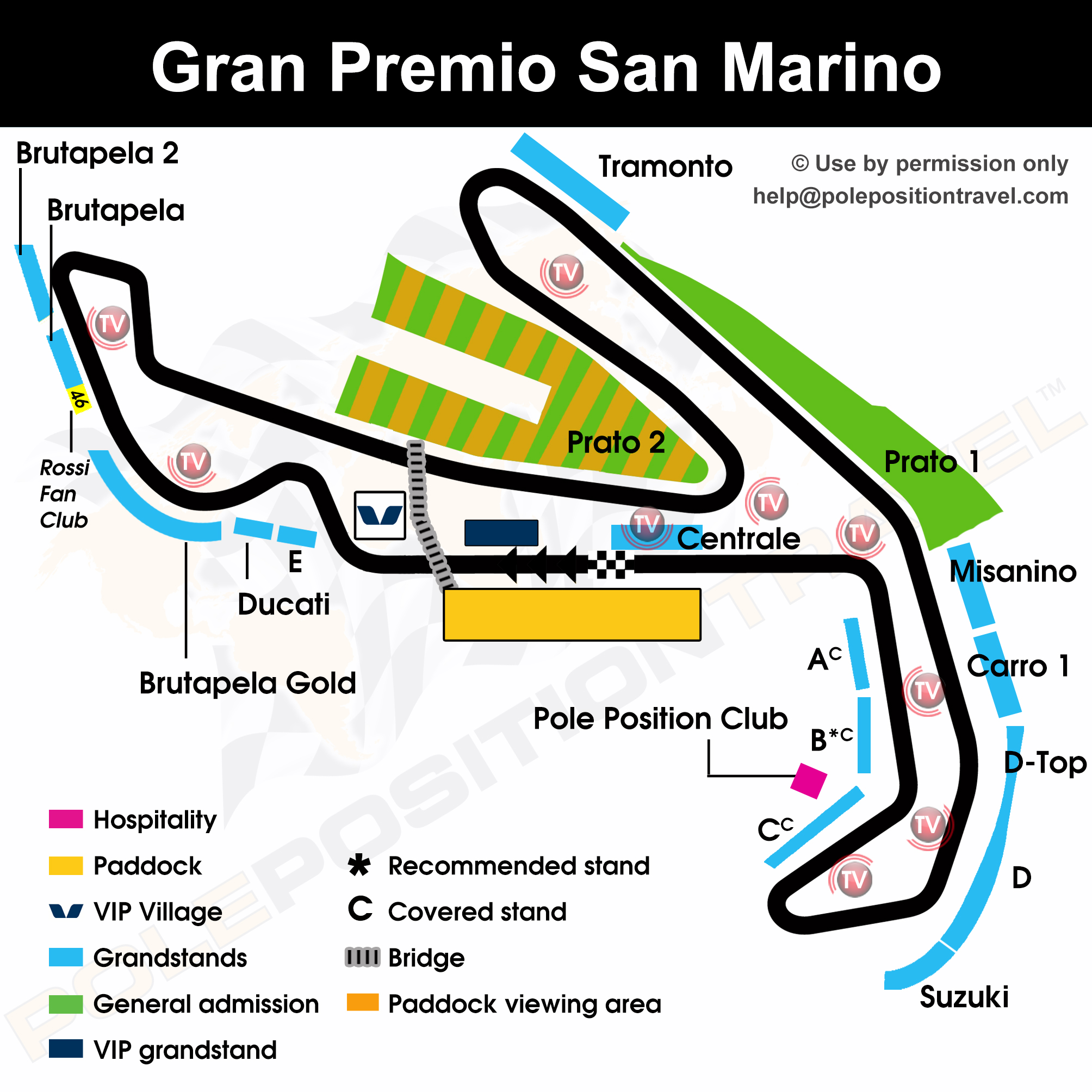 WSBK San Marino 2019 Circuit map
