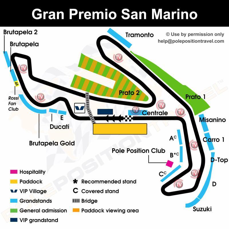 Gran Premio San Marino 2019 Circuit map