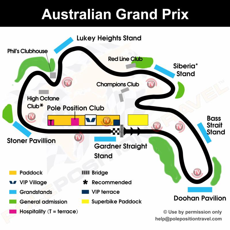 Australian Grand Prix 2018 Circuit map