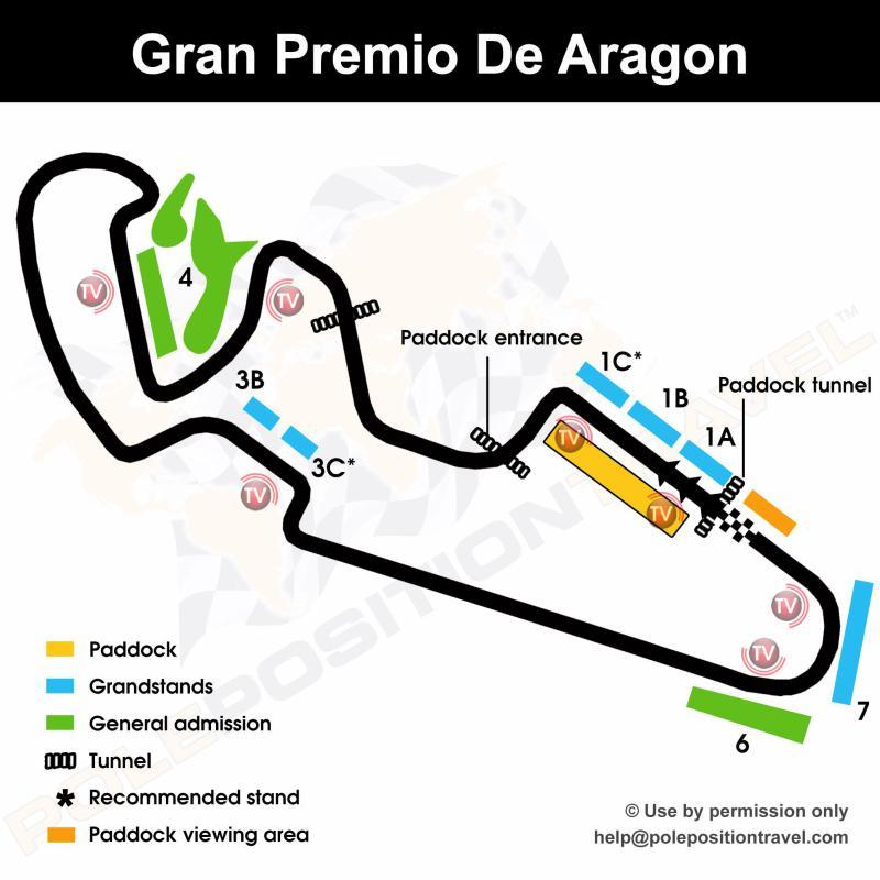 Gran Premio de Aragón 2020 Circuit map