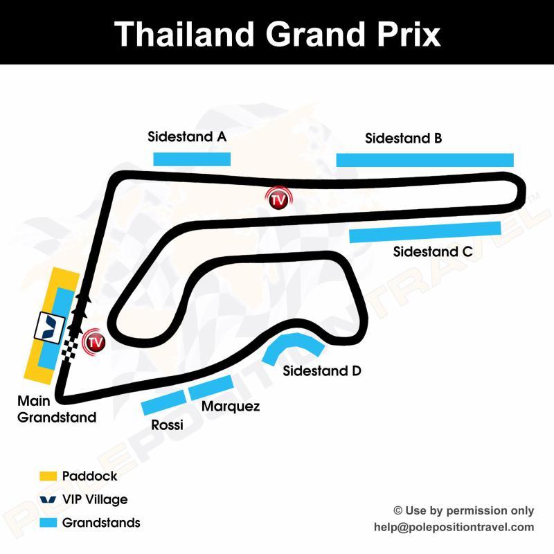 Thailand MotoGP 2018 Circuit map