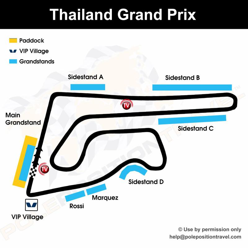 Thailand MotoGP 2019 Circuit map